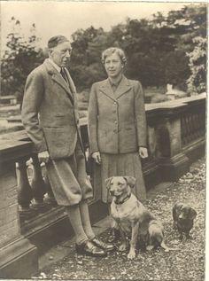 The Princess Mary, Princess Royal, Countess of Harewood, with her husband The Earl of Harewood, 1946.