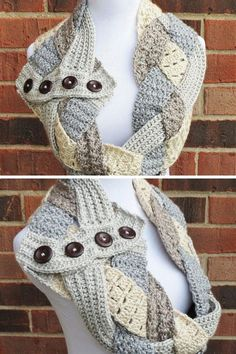 Follow these amazing tutorials to create your own stylish infinity scarf patterns for this fall and winter season! Great easy beginner crochet scarf patterns along with difficult intricate crochet patterns for advanced crocheters. #Crochet #InfinityScarf #CrochetScarf #InfinityScarfPattern #CrochetPatterns Crochet Scarf For Beginners, Beginner Crochet, Scarf Patterns, Crochet Patterns, Crochet Scarves, Crochet Hats, Crochet Infinity Scarf Pattern, Ombre Yarn, Scarf Tutorial