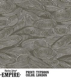 Typhoon London fabric by Parson Grey. Dressmaking, Fabric Design, Empire, Tapestry, London, Grey, Pattern, Color, Model