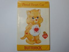 Butterick 3377 Proud Heart Cat Care Bear by TrinasCraftPatterns