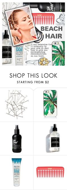 """""""Perfect Beach Hair"""" by totwoo ❤ liked on Polyvore featuring Monki, Kate Spade, Not Your Mother's and GINTA"""