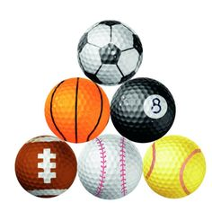 Novelty Golf Balls! It doesn't matter how many golf balls your golfing buddy has... nothing beats a novelty golf ball! The #8 pool ball is perfect to use for billiard style putting