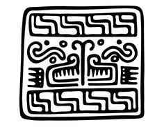 dibujos prehispánicos mayas - Buscar con Google