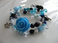wire bracelets, armbanden, zelfmaken, d.i.y., watdoetvanessanu, zoet geluk, lovely blue