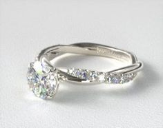 Design your own Pavé engagement ring online. Browse our stunning selection of Pavé ring styles, and choose the perfect diamond to match, all in HD. Engagement Rings Cushion, Perfect Engagement Ring, Halo Diamond Engagement Ring, James Allen Rings, Diamond Crown, Cute Jewelry, Jewlery, Wedding Ring Bands, Fashion Rings