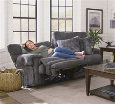 Garrison Power Headrest Power Lumbar Power Lay Flat Reclining Loveseat in Pewter Fabric by Catnapper - Reclining Sectional With Chaise, Lazy Boy Recliner, Furniture Grade Plywood, Kitchen Cabinet Remodel, Living Room Designs, Living Rooms, Fabric Sofa, Sofa Set, Bean Bag Chair