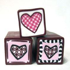 Creator's Joy: Slice and Bake polymer clay Valentine cane tutorial