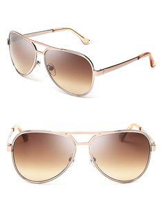 MICHAEL Michael Kors Peyton Aviator Sunglasses   Bloomingdale's