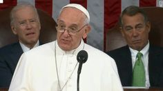 """Pope Francis becomes the first Pontiff to address Congress: Let us help others to grow, as we would like to be helped ourselves. In a word, if we want security, let us give security; if we want life, let us give life; if we want opportunities, let us provide opportunities. """"The yardstick we use for others will be the yardstick which time will use for us."""""""