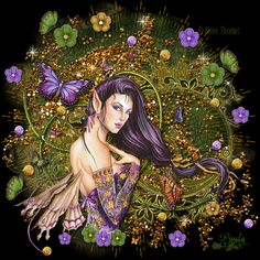 fantasy world and faries | Fairy Friends 7 - Butterfly Fairy - Animated Fantasy Art - The Fairy ...