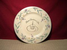 Pfaltzgraff Stoneware April Pattern Happy Birthday to You Plate   eBay