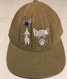 6dfabb7618b MEN S VINTAGE 90 S PINKY AND THE BRAIN SNAP BACK HAT BY WARNER BROS. 1997