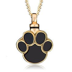 CharmsStory Ashes Pet Dog/Cat Paw Print Cremation Urn Necklace Memorial Holde... #CharmSStory