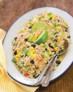 Southwest Quinoa Salad - Blue Zones Blue Zones Recipes, Zone Recipes, Diet Recipes, Whole Food Diet, Whole Food Recipes, Quinoa Salad Recipes, Vegetarian Recipes, Bean And Vegetable Soup, Southwest Quinoa Salad