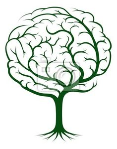 Wall Mural Brain tree illustration