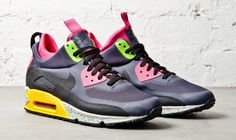 23e059454672 NIke Air Max 90 Sneakerboot NS - Gridiron Black-Pink Force Nike Flyknit