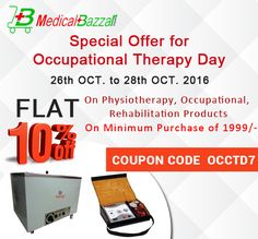 Hurry up!!...Today is Last Day.Order Now & Get Flat 10% #OFF on #Physiotherapy, #Occupational & #Rehabilitation Products - http://www.medicalbazzar.com/