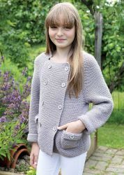 Вязаный кардиган для девочки Mona с рукавом реглан и карманами http://vjazhi.ru/detskaya-odezhda/devochkam/kardigan-dlya-devochki-mona.html