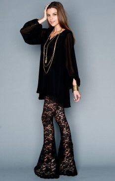 Bam Bam Bells ~ Lancey Lace Black