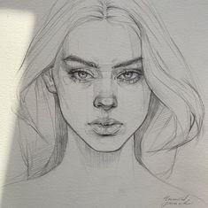 Image about girl in ART 💕 💌💟 by H e a r t b e a t Cool Art Drawings, Pencil Art Drawings, Art Drawings Sketches, Drawing Techniques Pencil, Pencil Portrait Drawing, Colored Pencil Techniques, Horse Drawings, Drawing Art, Portrait Sketches