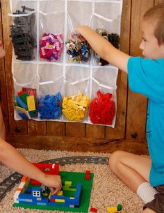 How to organise lego by colour, size, set or purpose. Plus ideas on how to display Lego. The ultimate Lego storage guide! Toy Storage Solutions, Kid Toy Storage, Lego Storage, Storage Ideas, Shoe Storage, Baby Storage, Legos, Shoe Caddy, Lego Hacks