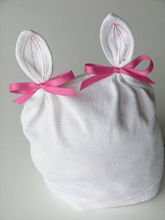 sew: baby bunny hat from old Tshirt