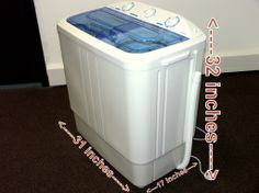 Details About Portable Mini Compact Twin Tub 11lb Washing Machine Washer Spin Dryer