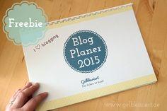 Blog Planer und Kalender Freebie   Printable   Gelbkariert Blog