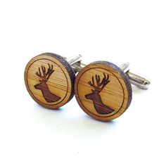 Hey, I found this really awesome Etsy listing at https://www.etsy.com/listing/105774845/deer-cufflinks-stag-cufflinks-wood