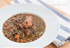 Braised lentils with pork rib - Celine's Recipes Copycat Recipes, New Recipes, Whole Food Recipes, Lentil Salad, Lentil Curry, How To Make Lentils, Lentil Dishes, Legumes Recipe, Lentil Recipes