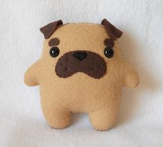 MADE TO ORDER  Pudgy Pug Plush by Michelle by michellecoffee, $20.00