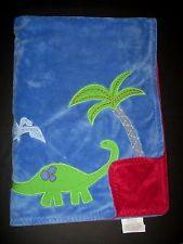 Pottery Barn Kids Dinosaur Palm Tree Blue Red Green Chamois Stroller Blanket PBK