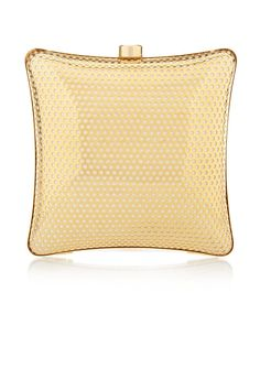 Stella McCartney Satin-Lined Perforated Box Clutch, $1,207.50;