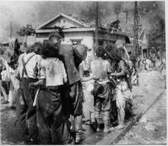 """Hiroshima 8/6/45. For Matsushige himself, his films were so toxic that he was unable to develop them for twenty days, and even then had to do so at night and in the open, rinsing it in a stream. When he tried to publish them, they were confiscated. Under the blanket rule that """"nothing shall be printed which might, directly or by inference, disturb public tranquility,"""" graphic photos from Hiroshima and Nagasaki were not printed until the U.S. occupation ended in Japan in April 1952."""