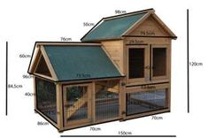 DIY Rabbit Hutch   Giant Rabbit Hutch Guinea Pig Cage Chicken Coop House 1