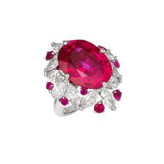 This ruby ring stopped us in our tracks at the David Morris boutique in Paris recently. Traditionally red, this 16.59-carat fuchsia-hued oval-cut ruby beams out sunset-in-paradise vibes