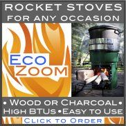 EcoZoom--wood and charcoal rocket stoves