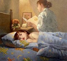 Kai Fine Art is an art website, shows painting and illustration works all over the world. Reading Art, Woman Reading, Reading People, I Love Books, Good Books, Animation, Les Gifs, Gif Animé, Bedtime Stories