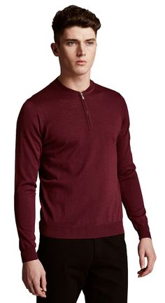 M&S By AUTOGRAPH Pure Merino Wool Half Zip Slim Fit Baseball Jumper.  XX-Large  MRRP: £35.00GBP - AVI Price: £28.00GBP