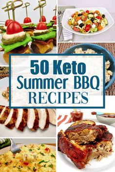 50 Keto Summer BBQ Recipes Summer is here and its time to get the barbecue underway! On the Keto Diet we have so many wonderful options to choose from. This is a collection of 50 great recipes to consider for your next barbecue! Best Low Carb Recipes, Healthy Summer Recipes, Healthy Tips, Low Carb Dinner Recipes, Keto Dinner, Breakfast Recipes, Barbecue Recipes, Grilling Recipes, Ketogenic Recipes