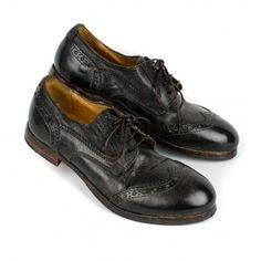 MOMA 71401 wingtip oxford in chocolate brown for women.