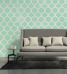 """Szablon malarski""""Meknes""""z kolekcji""""Moroccan"""".   Szpiczaste wykończenie dekorów, nadaje wzorowi nieco drapieżny  wygląd. Doskonale spisze się też w minimalistycznym wnętrzu, jako mocny  dekoracyjny akord.   W komplecie GRATIS małe szablony z pojedynczymi dekorami do malowania trudno dostępnych miejsc.   Wymiary arkusza: 70 cm x 100 cm   Wymiary wzoru:58 cm x 71,5 cm   Wymiary dekoru 1:18 cm x 18 cm   Wymiary dekoru 2:17 cm x 17 cm Przygotuj cztery kawałki papierowej taśmy malarskiej…"""