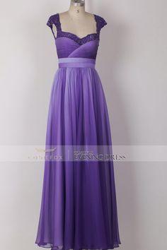 Marc Bouwer GlamIt! blue purple ombre silk chiffon dress ...