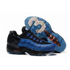 finest selection 773ab ee9a8 Hombres Zapato Último Nike Air Max 95 Azul Negro Venta De Salida  NikeAirMax