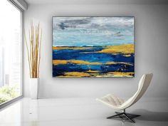 Colourful Acrylic Abstract Painting Large Wall Art Abstract image 1