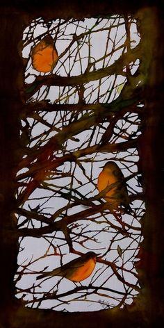 Early Robins gather by Carolyn Doe