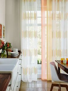 Washable fabrics add great athmosphere in kitchen such as fabric MAMBO and PABLO