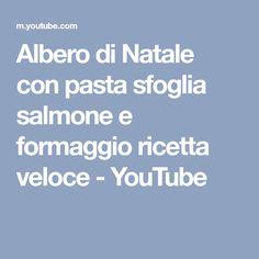 Albero di Natale con pasta sfoglia salmone e formaggio ricetta veloce - YouTube