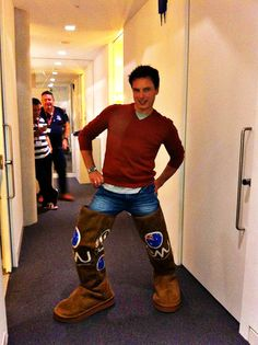 I AM DONE ITS ALL OVER EVERYONE CAN GO HOME JOHN BARROWMAN IS POSING SUGGESTIVELY IN A PAIR OF THIGH-HIGH AUSTRALIAN UGG BOOTS THERE CAN NEVER AND WILL NEVER BE A BETTER PHOTO ON THE INTERNET <--- As if it's possible for John Barrowman to pose non-suggestively. <--That comment speaks the truth of everything John Barrowman related.