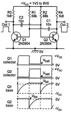 Electronics Tutorial about the 555 Oscillator and How the